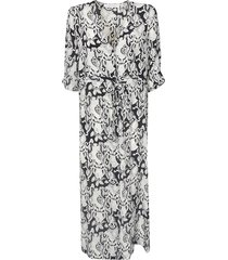 see by chloé all-over printed v-neck dress