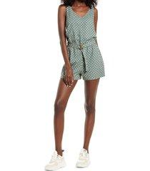 women's vero moda vmastimilo woven romper, size small - green