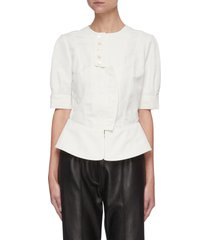 'alicia' short placket blouse
