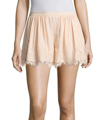 orly lace trim swing shorts
