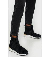 river island monogram fur line runner flat boots