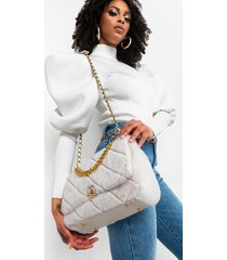 akira mother winter faux fur quilted purse