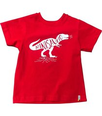 camiseta color rojo con texto estampado