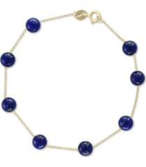 effy onyx bead (6mm) bracelet in 14k gold (also in lapis lazuli)