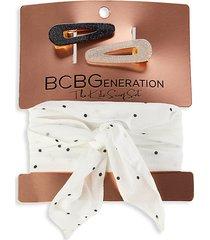 3-piece hair tie & clip set