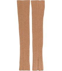 cashmere in love ribbed cali socks - neutrals