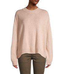 oversized cropped cashmere sweater