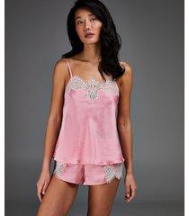 hunkemöller pyjamasshorts i satin rosa