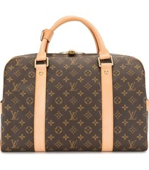 louis vuitton 2009 pre-owned carryall travel bag - brown