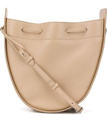 the row round pouch bucket bag - neutrals