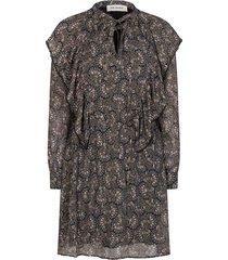 jurk met print tamira  zwart
