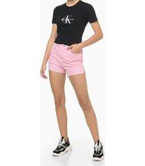 blusa feminina estampa ck preta calvin klein jeans - pp