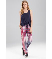 josie tees swing tank pajamas, women's, blue, size xl natori
