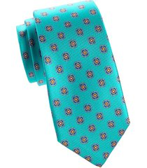 floral medallion silk tie