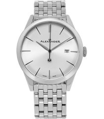 alexander watch a911b-04, stainless steel case on stainless steel bracelet