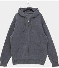 jaqueta moletom athletic jacket básica plus size masculina