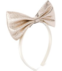 hucklebones london metallic oversized bow headband - gold