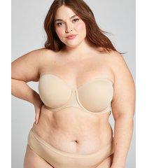 lane bryant women's lightly lined multi-way strapless bra 42dd cafe mocha
