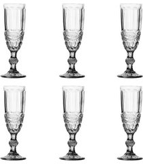 jogo de taças para champanhe 6 peças lyor libélula 140ml transparente