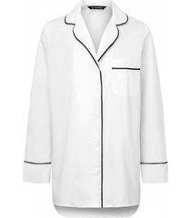 piżama white classic shirt personalizowana