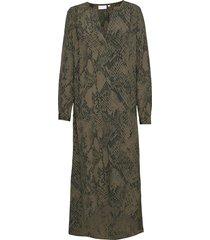 dress w. v-neck and long sleeves maxiklänning festklänning grön coster copenhagen