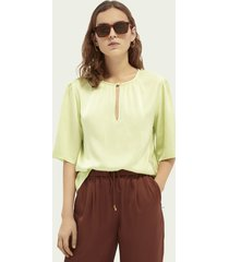 scotch & soda boxy-fit v-neck top