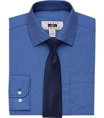 joseph abboud boys blue geometric print shirt & tie set