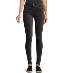 ag jeans women's farrah high-rise velvet skinny pants - gooseberry - size 24 (0)