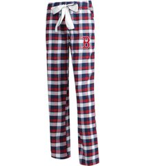 concepts sport women's boston red sox piedmont flannel pajama pants