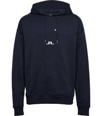 gordon-jljl sweat hoodie trui blauw j. lindeberg