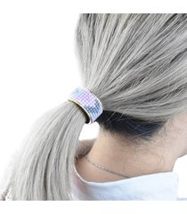 1pc fashion elegant women metel hair tie elastico ponytail holder accessori per capelli di colore della caramella