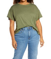 plus size women's madewell sorrel whisper ringer t-shirt, size 2x - green