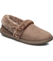 womens cozy campfire - team toasty slippers tofflor beige skechers