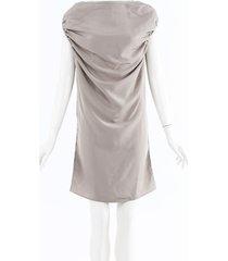 maison martin margiela draped knee length dress