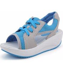 scarpe stringate a dondolo a contrasto