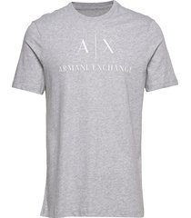 man jersey t-shirt t-shirts short-sleeved grå armani exchange