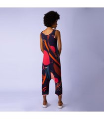 macacão malha canelada klimt sarongue incolor - kanui
