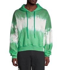 arrows tie-dye cotton hoodie
