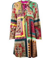 etro patchwork shift dress - yellow