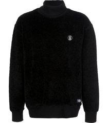 neighborhood polar turtleneck sweatshirt - black