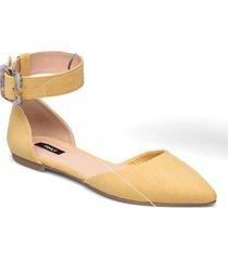 onlanas-6 life buckle heel ballerina ballerinaskor ballerinas gul only