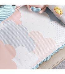 edredom bebê nuvem de algodão estampado grão de gente rosa