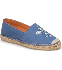 lily canvas espadrille sandaletter expadrilles låga blå morris lady