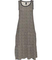 sleeveless tiered maxi dress dresses everyday dresses multi/mönstrad gap