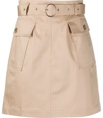baum und pferdgarten two pocket belted skirt - neutrals