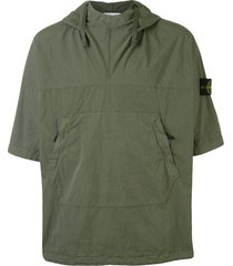 stone island straight fit hoodie - green