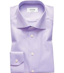 overhemd eton paars herringbone contemporary fit