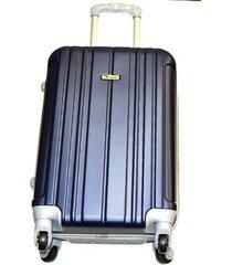 maleta fibra policarbonato pequena 20 pulgadas 4 ruedas - azul