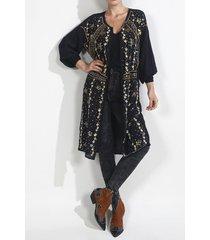 kimono para mujer tennis, fondo entero y bordado