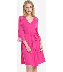 zan. style front open nightgown belt sleepwear